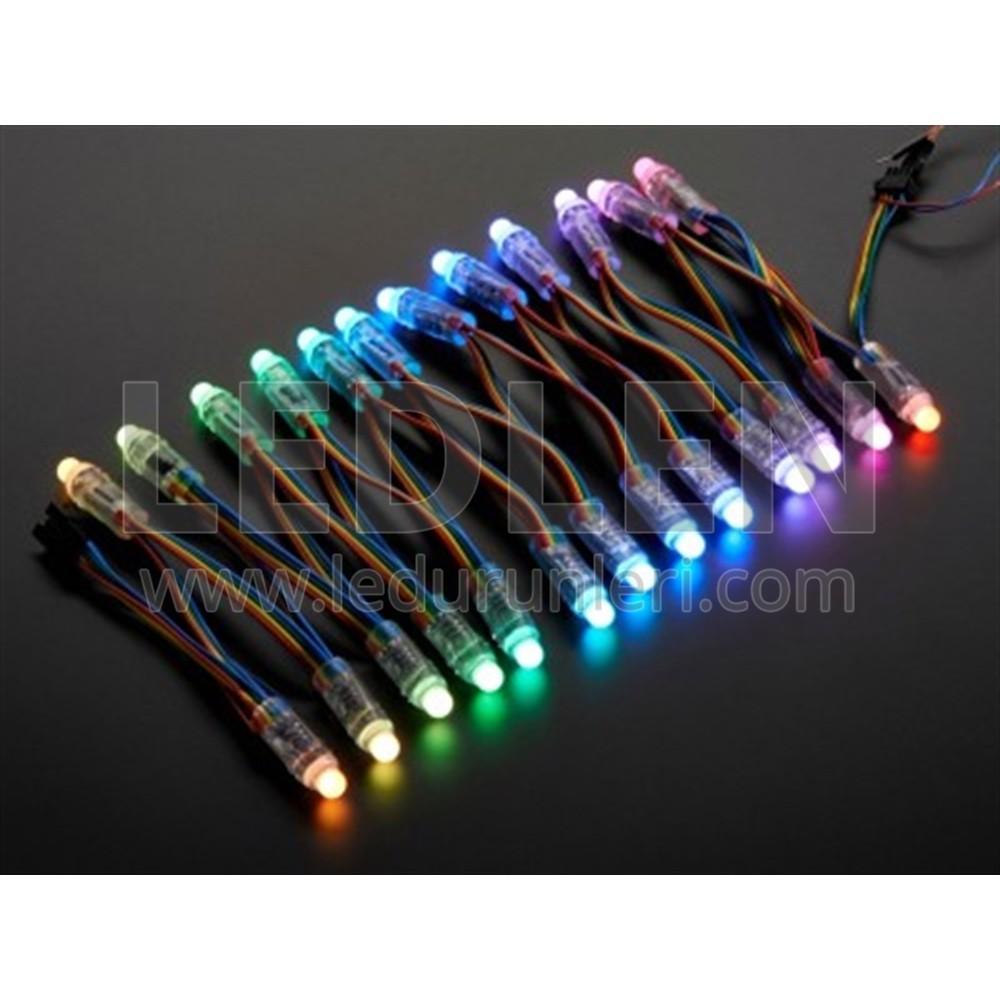LEDLEN 12V RGB Full Renkli 9MM Pixel Dizgi Bağ Led