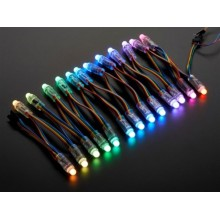 12V RGB Full Renkli 9MM Pixel Dizgi Bağ Led