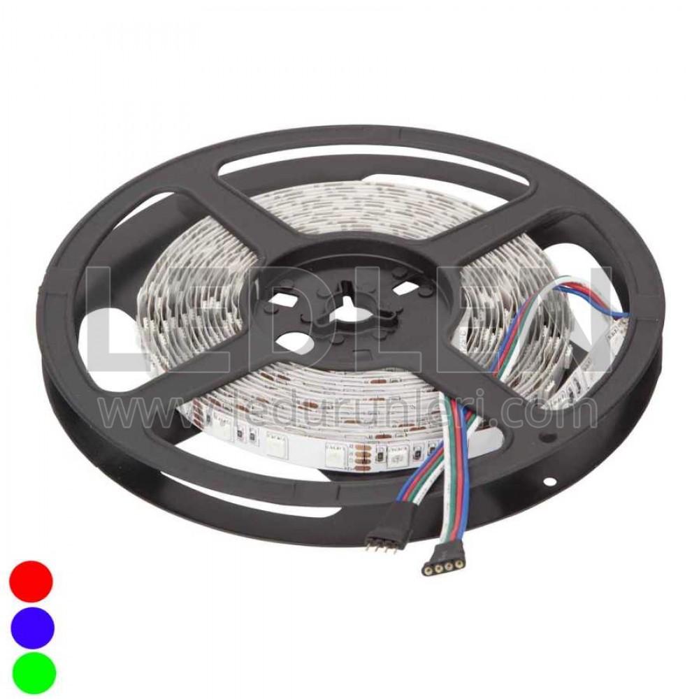 LEDLEN 5 Volt 5050 3 Çipli İç Mekan (5 METRE) RGB Şerit Led