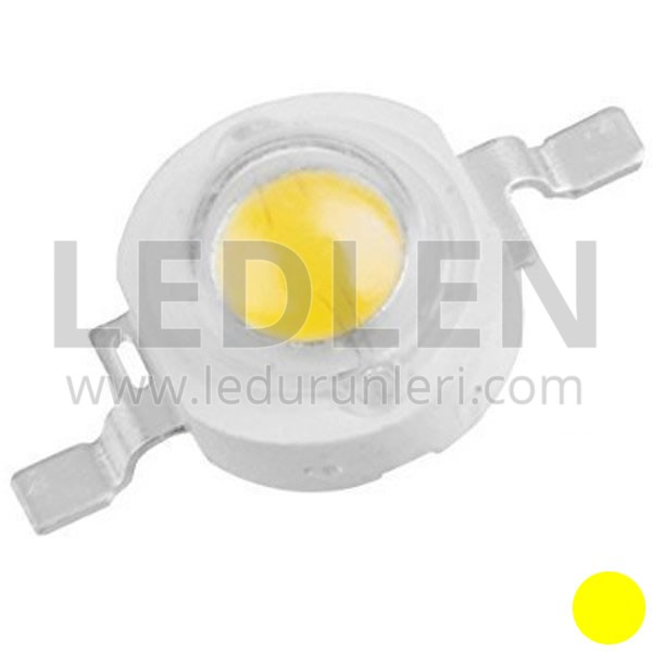1 Watt 350ma (Sarı) Power Led