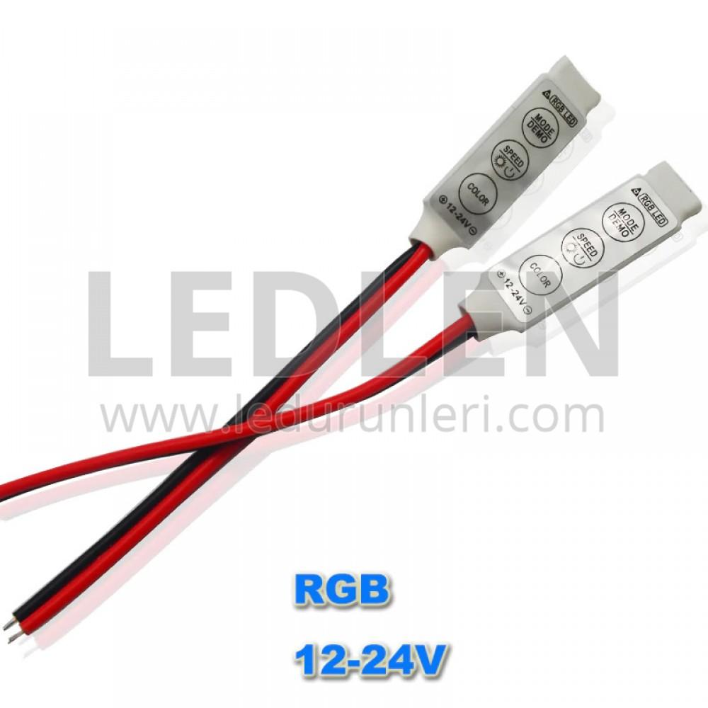LEDLEN RGB 3 Tuşlu Mini Led Kumanda (Controller)