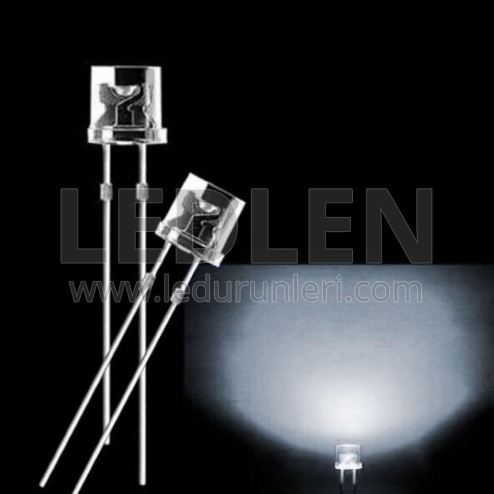 LEDLEN 5mm 120° Derece Flat KesikBaş Tabela Ledi (500 Adet)