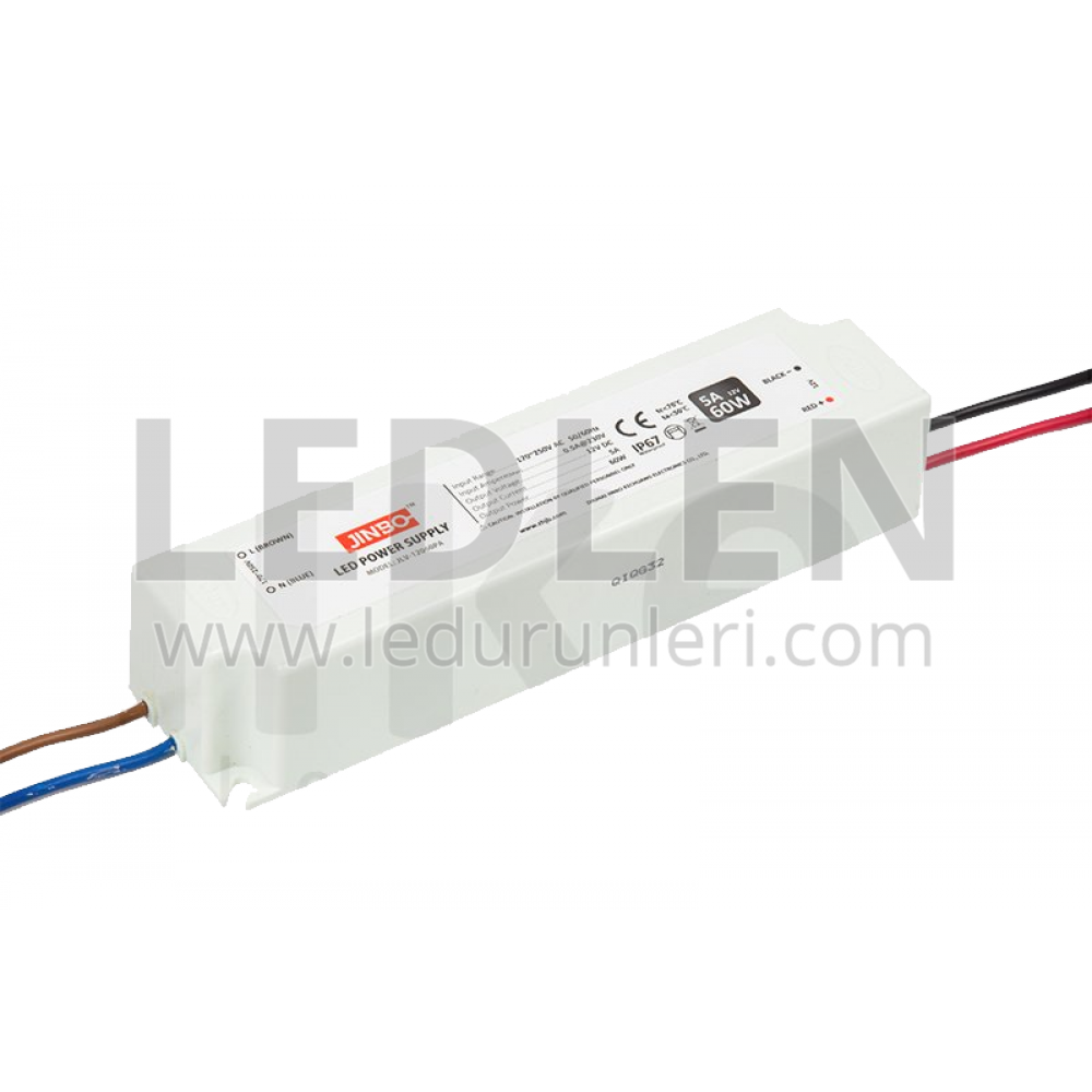 12V 5A Dış Mekan Plastik Kasa Su Geçirmez Adaptör - LED326451