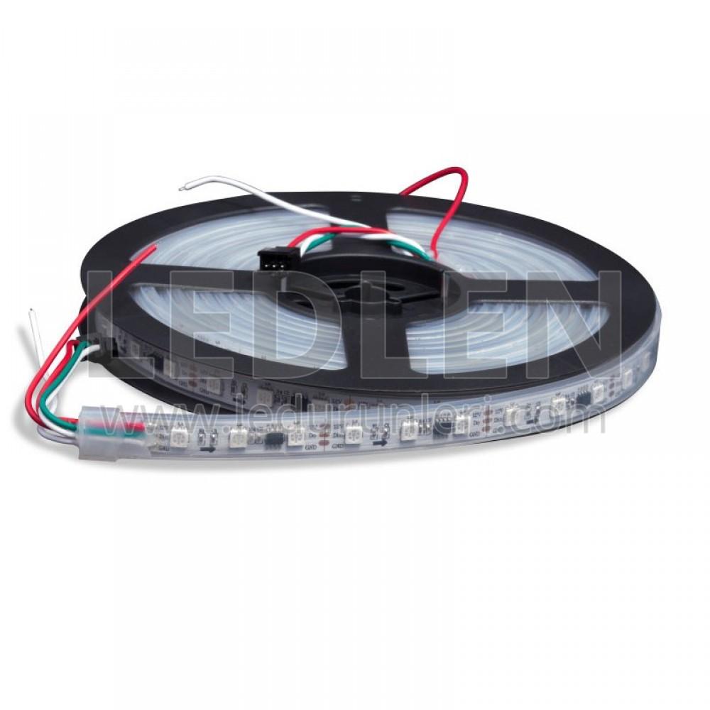 RGB Magic Pixel Şerit Led IC1903 IP68 (Silikonlu) 5 Metre - LED413526