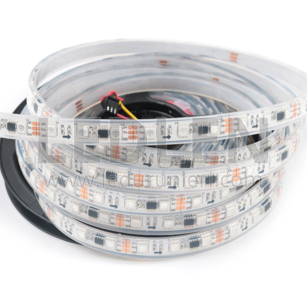 12V. WS2811 RGB Magic Şerit Led IP70 Dış Mekan - LED135426