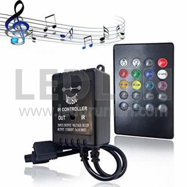 IR Müziğe-Sese Duyarlı RGB Led Kontrol Cihazı