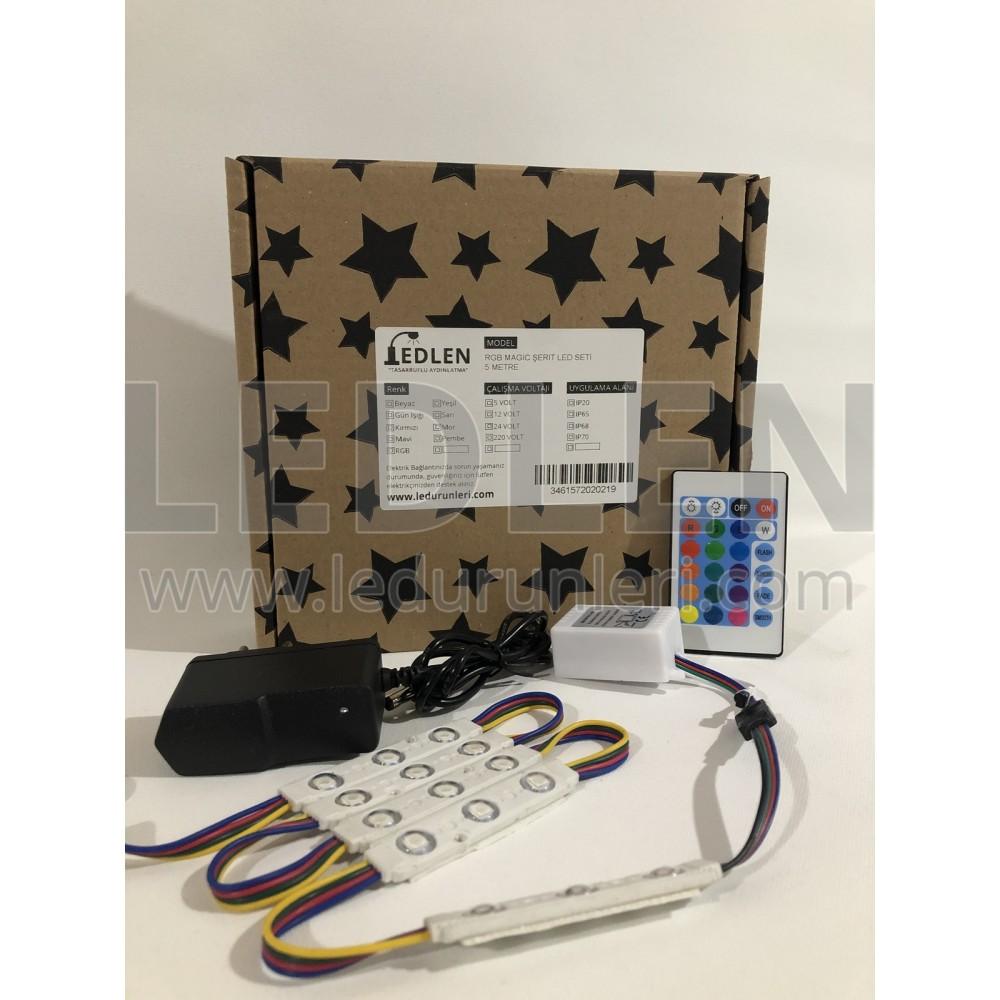RGB Led Tezgah Altı Aydınlatma - Hazır Kurulu Paket Tak Çalıştır - MOD-RGB-016