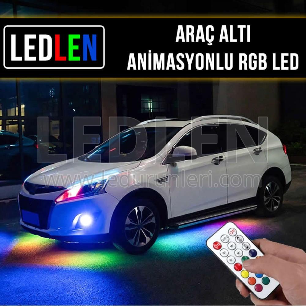 Oto Araç Altı Animasyonlu Kayar RGB Şerit Led - SRT-RGB-012