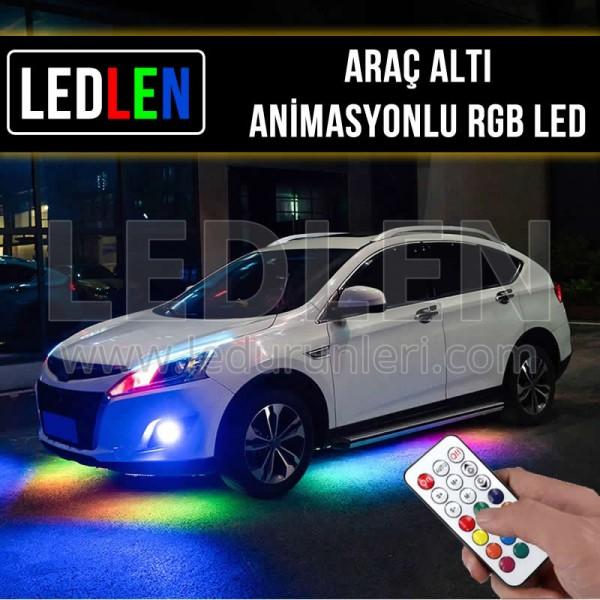 Oto Araç Altı Animasyonlu Kayar RGB Şerit Led
