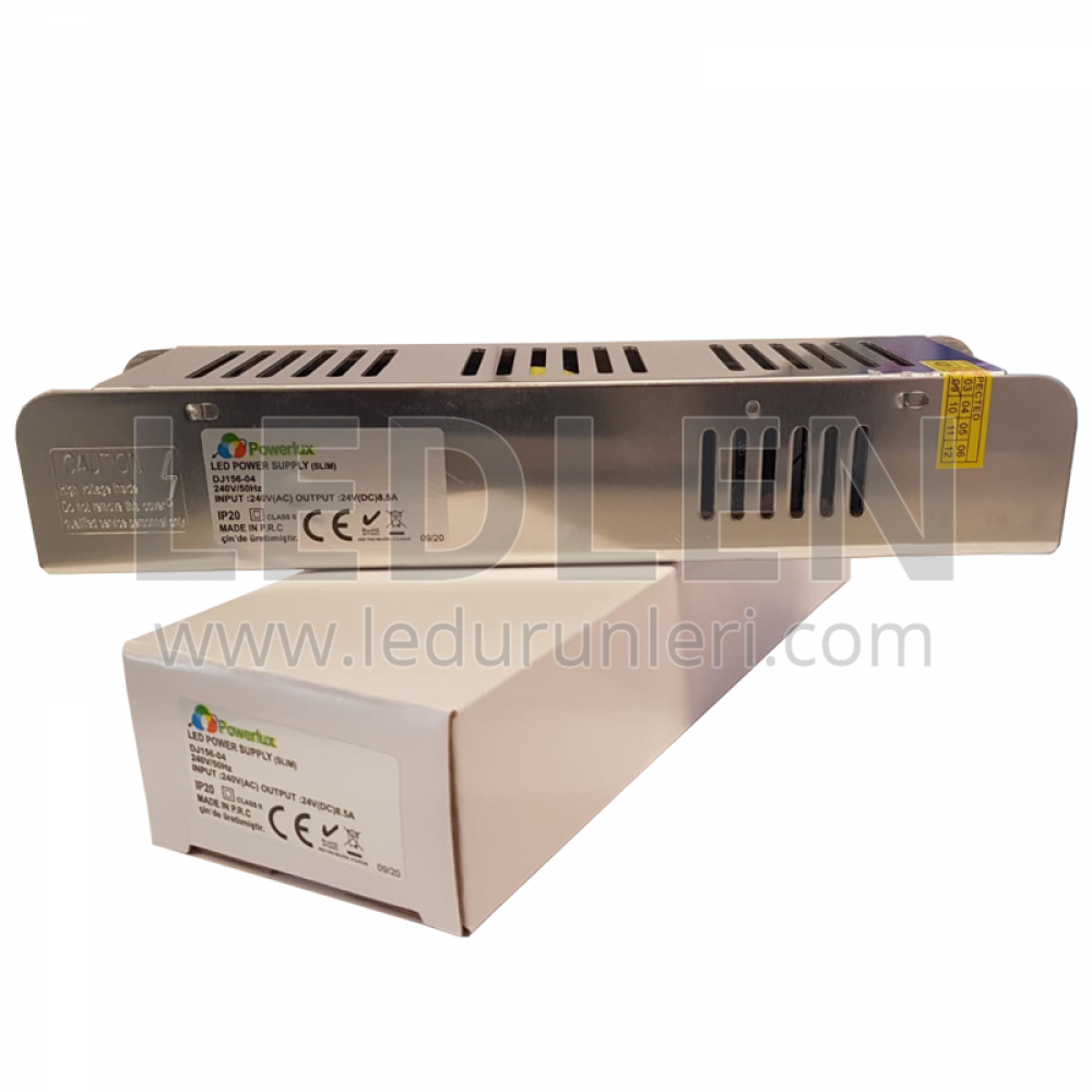 24V 8,5A 200W Slim (İnce Kasa) Adaptör - LED615423