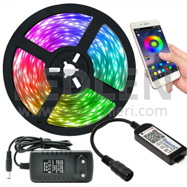 RGB Şerit LED Tak Çalıştır Ürün Seti (Bluetooh Telefon Kontrollü)