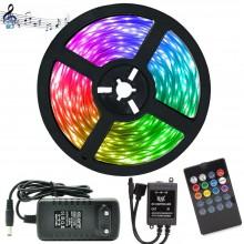 RGB Şerit LED Tak Çalıştır Ürün Seti (Müzik & Sese Duyarlı)