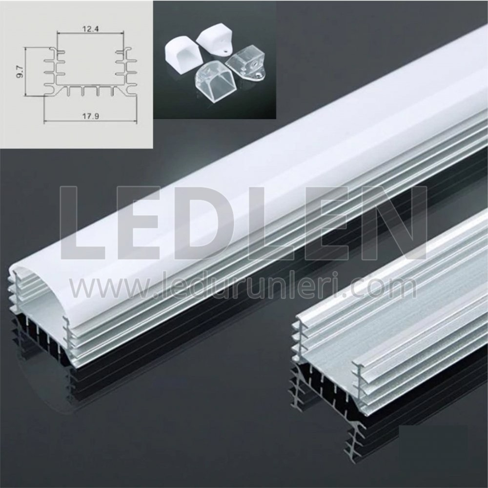 Bar LED Boş Kasa Alüminyum Kasa 1 Metre - LED431625