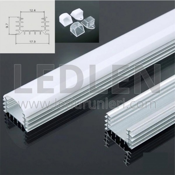 Bar LED Boş Kasa Alüminyum Kasa 1 Metre