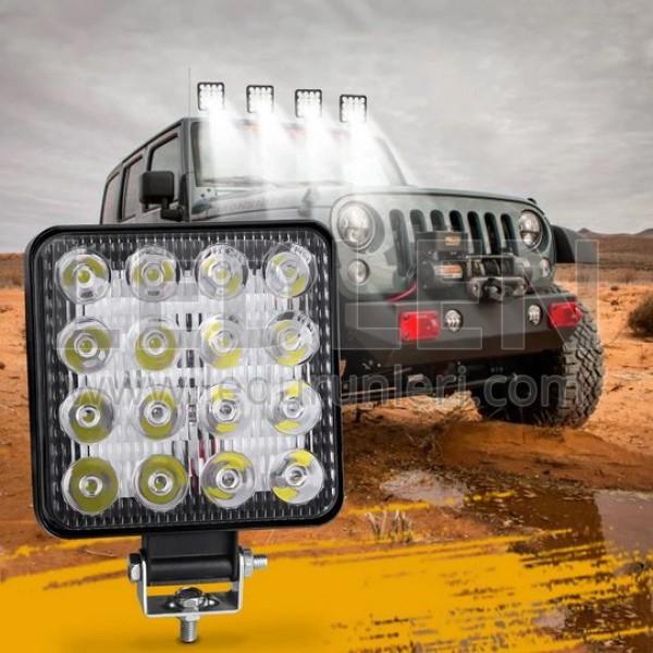 16 Ledli OFF ROAD Led Sis Farı Çalışma Lambası 48W (10-60V)