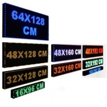 Tek Taraflı - Led Tabela Kayan Yazı 32cm x 128cm