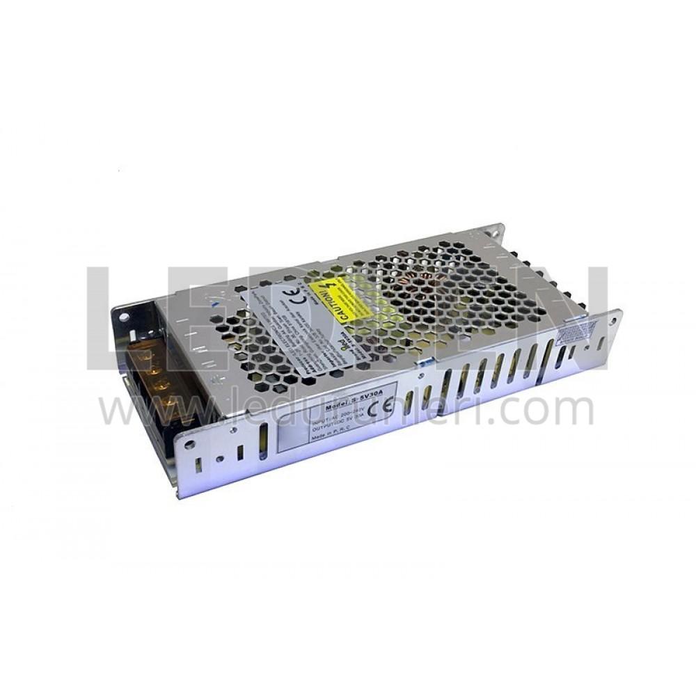 LEDLEN 5 Volt 20 Amper Adaptör Slim Metal Kasa