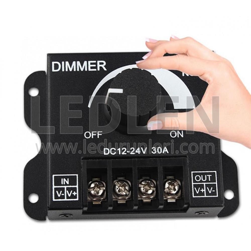 LEDLEN Manuel Led Dimmer 12 Volt 30 Amper