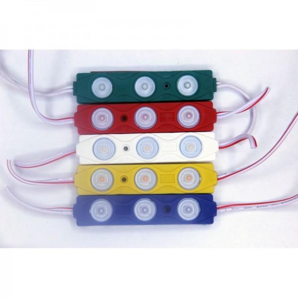 (10 ADET) 12 Volt 1.5 Watt 2835 Plus 3lü Modül Led