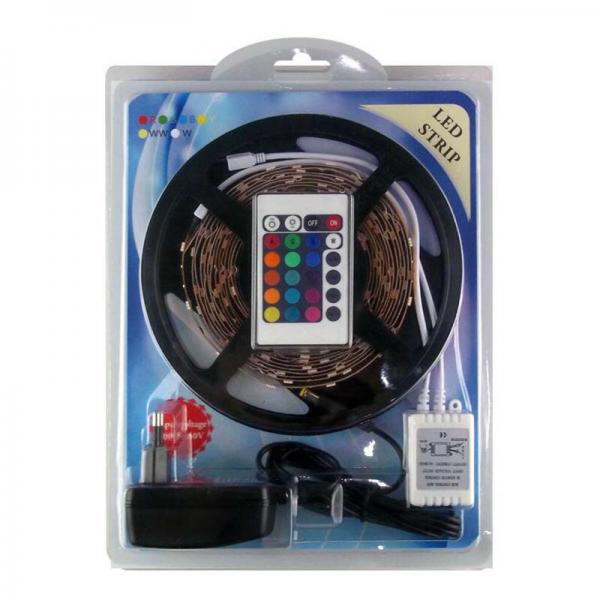 5 Metre RGB 5050 Şerit Led Seti   Kumanda + Adaptör