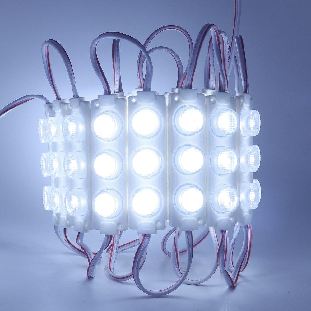 12V 3 Watt Mercekli 3 Lensli Power Led Modül (20 Adet) - LED651253