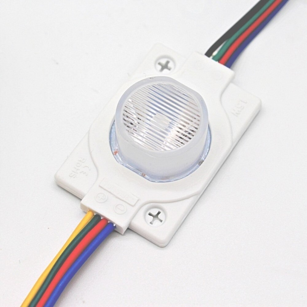 (20 ADET) 12 Volt - 1.5w Tekli Lensli RGB Led Modül - LED314256