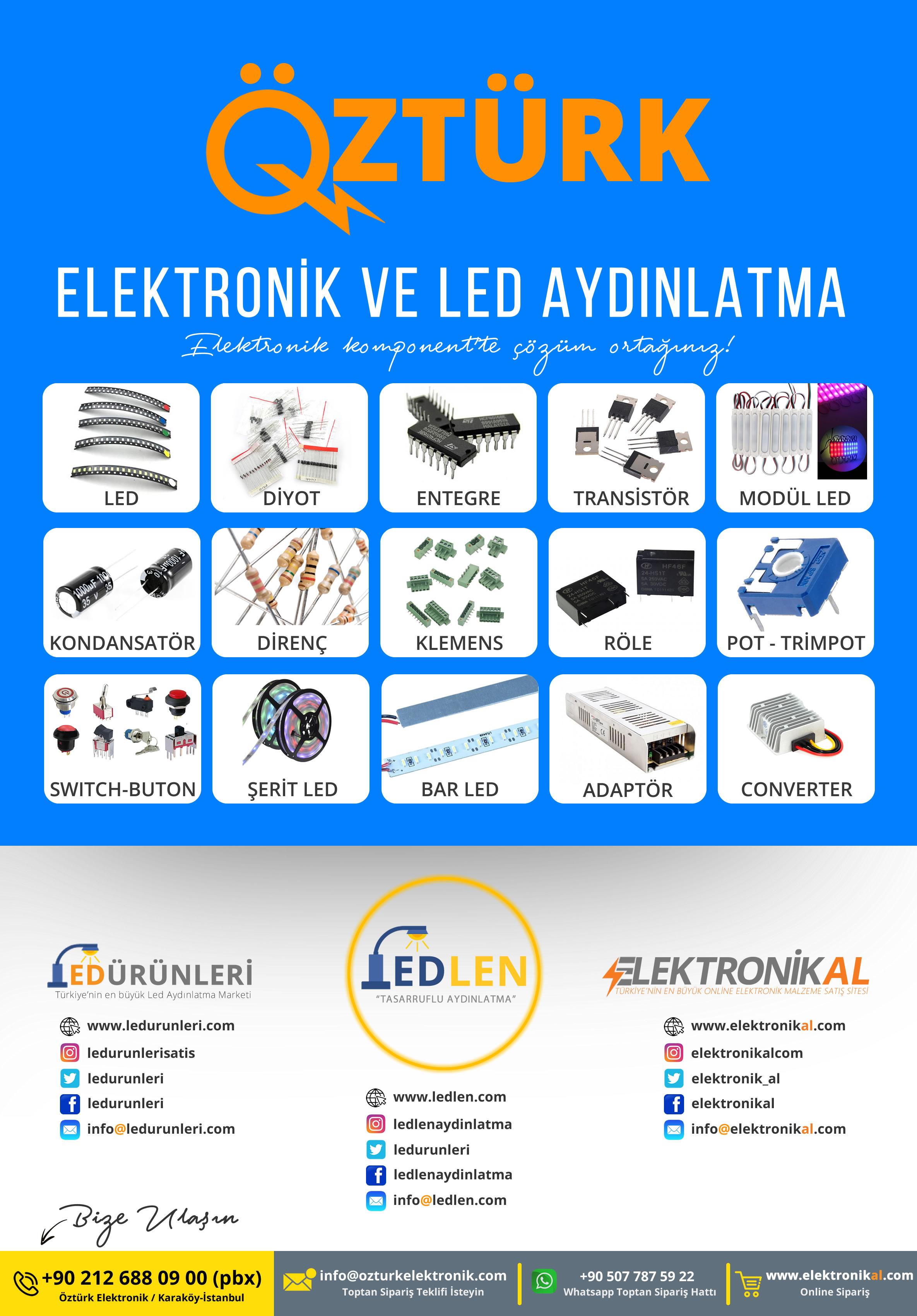 Öztürk Elektronik LEDLEN® Aydınlatma Tanıtım Broşürü